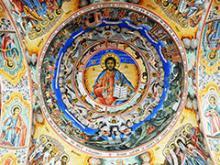 Pantócrator en el Monasterio de Rila. Foto: Dennis Jarvis. Flickr