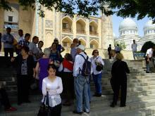 Visitando la madraza de Kukeldash en Tashkent