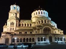 Imagen clásica de la catedral Alexander Newski de Sofía
