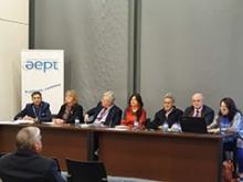 Mesa de ponencia en el foro de calidad de la gestión del patrimonio turístico