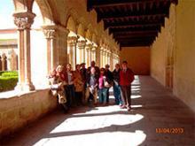 el grupo en los claustros de Santa María la Real de Nieva